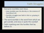 faith struggles