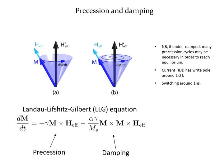 Precession and damping