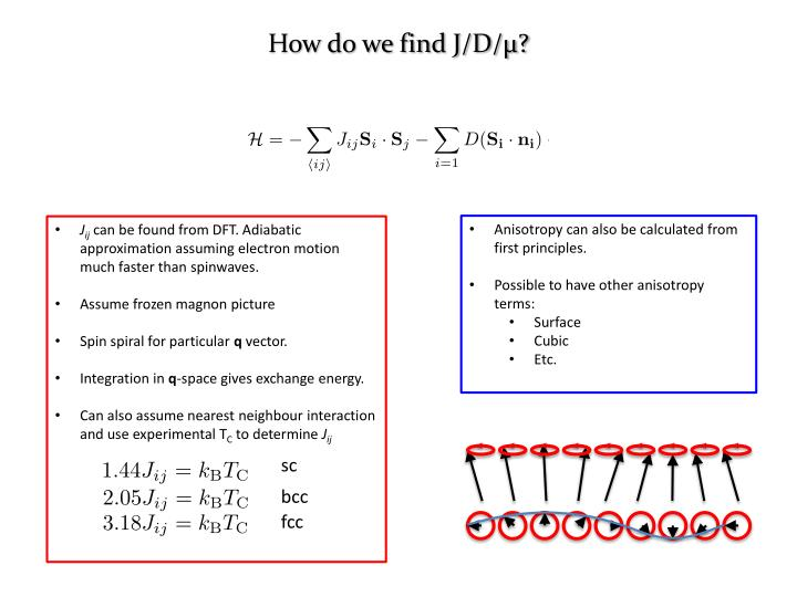 How do we find J/D/μ?