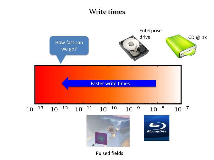 Write times