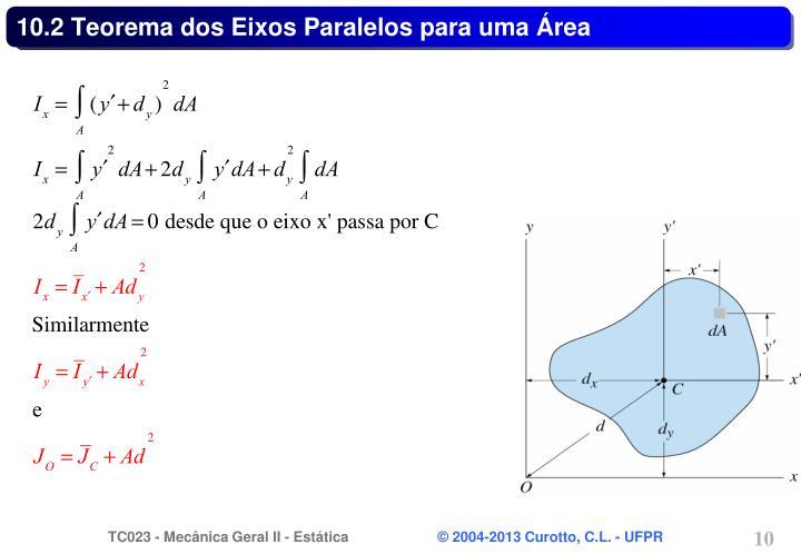 10.2 Teorema dos Eixos Paralelos para uma Área