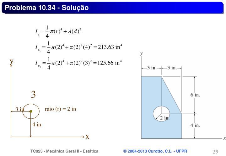 Problema 10.34 - Solução