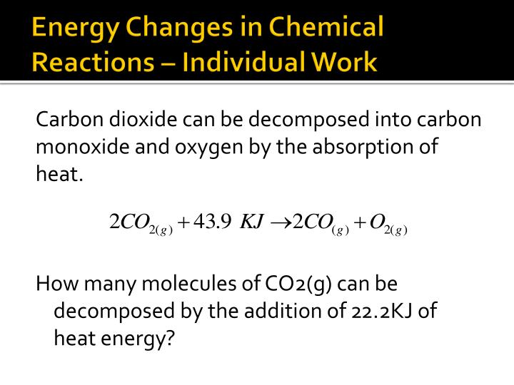 Energy Changes in Chemical