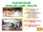 plan d a solar hotel del llano incluye