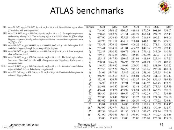 ATLAS benchmarks
