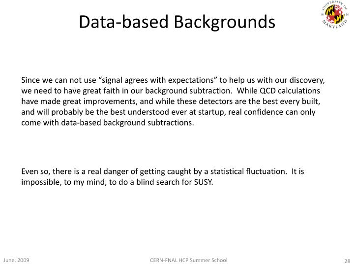 Data-based Backgrounds