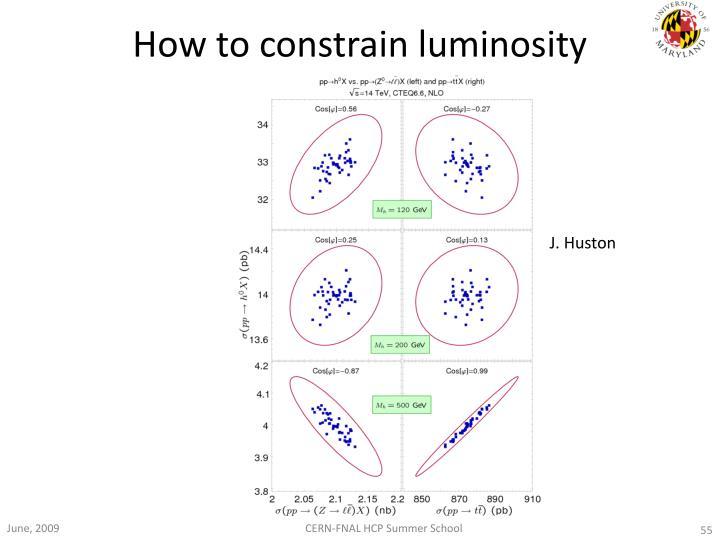 How to constrain luminosity