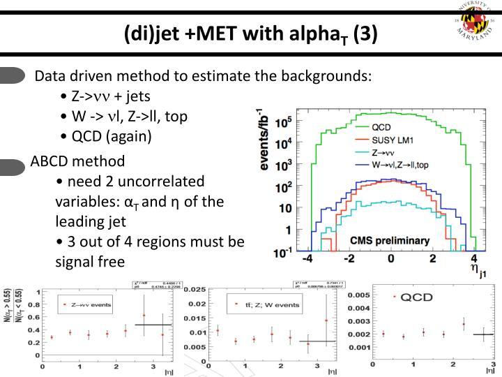 (di)jet +MET with alpha