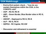 coa walkthrough