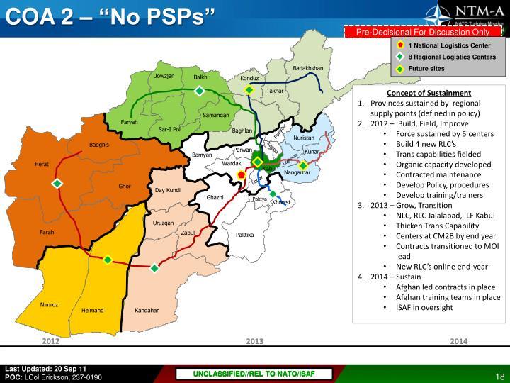 """COA 2 – """"No PSPs"""""""