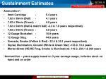 sustainment estimates