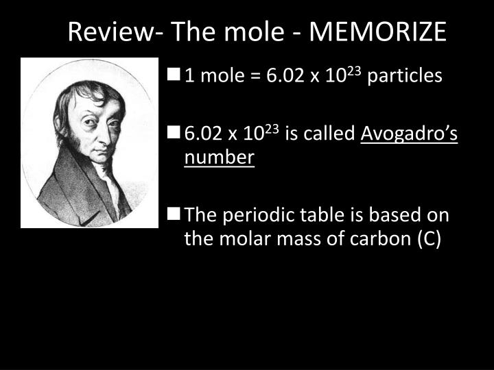 Review- The mole - MEMORIZE