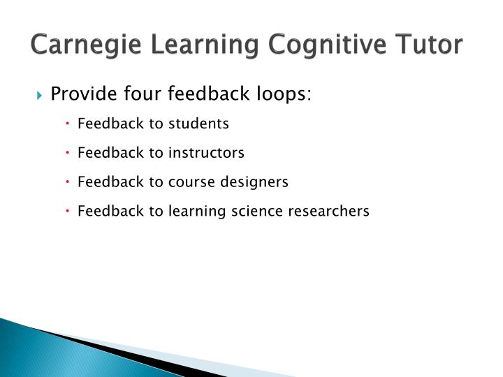 Carnegie Learning Cognitive Tutor