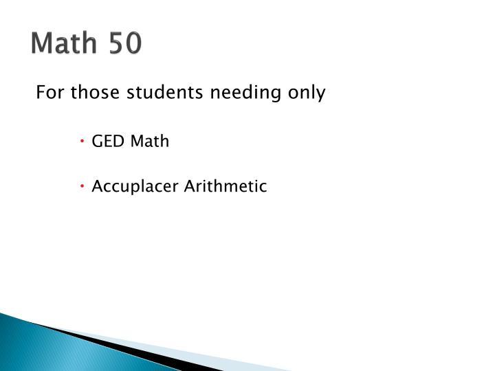 Math 50