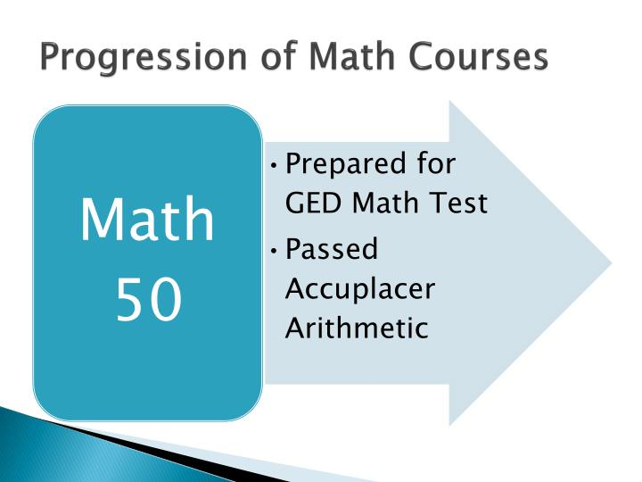 Progression of Math Courses