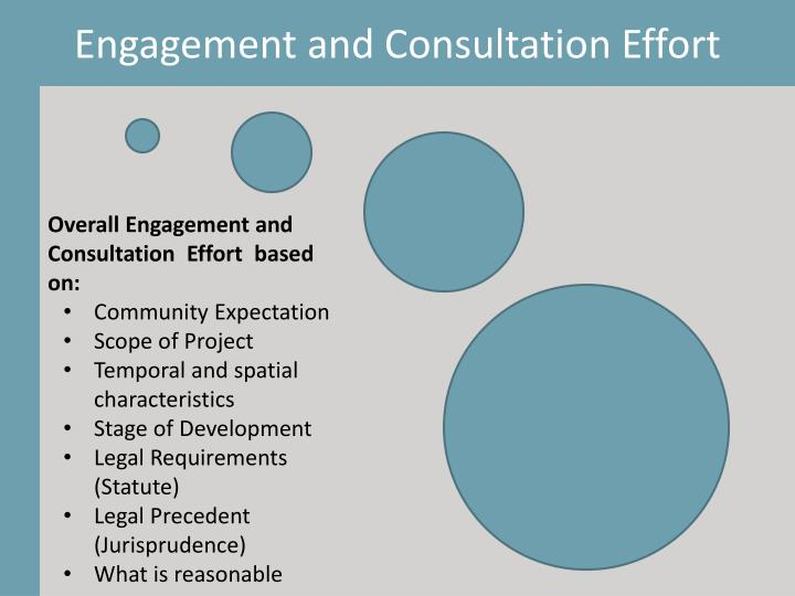 Engagement and Consultation Effort