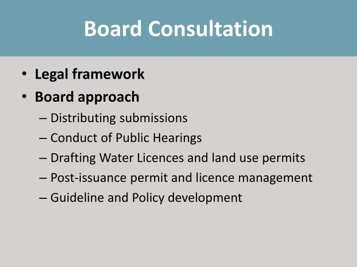 Board Consultation