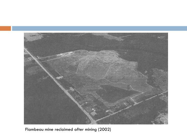 Flambeau mine reclaimed after mining (2002)
