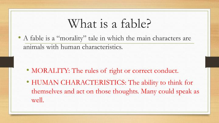 What is a fable
