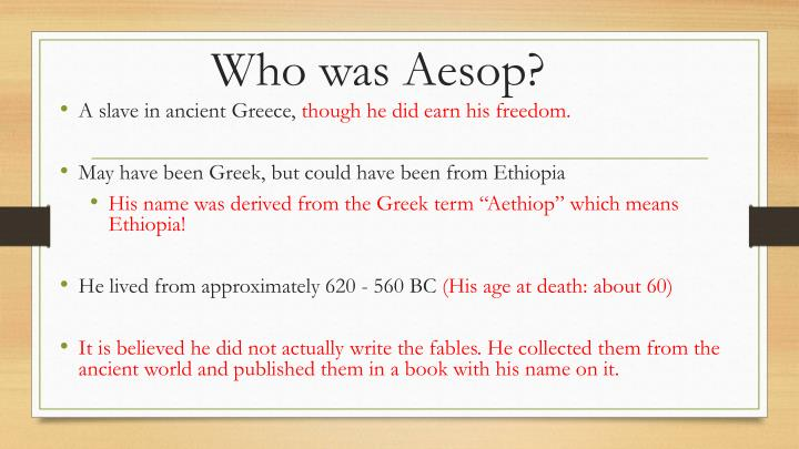 Who was aesop