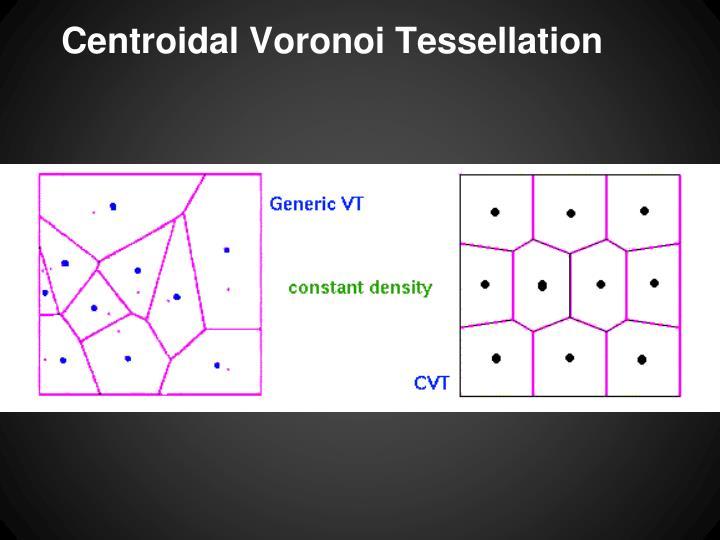Centroidal Voronoi Tessellation