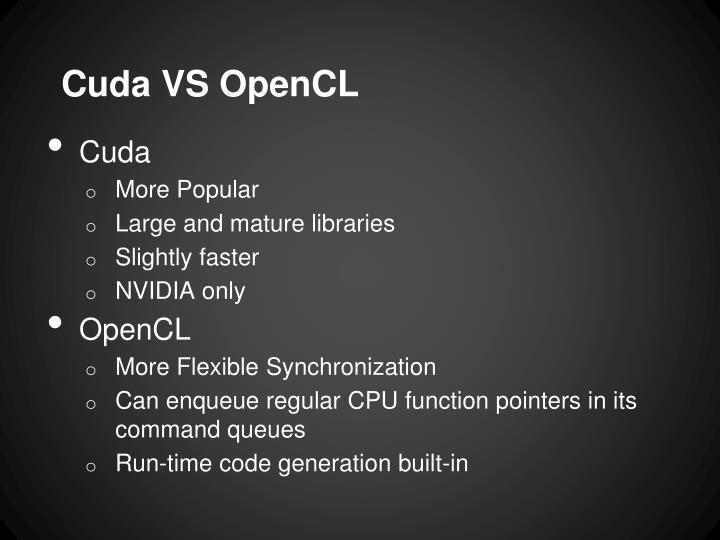 Cuda VS OpenCL
