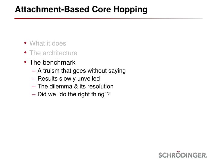 Attachment-Based Core Hopping