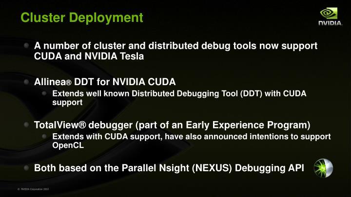 Cluster Deployment