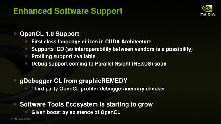 Enhanced Software Support