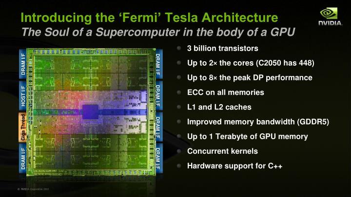 3 billion transistors