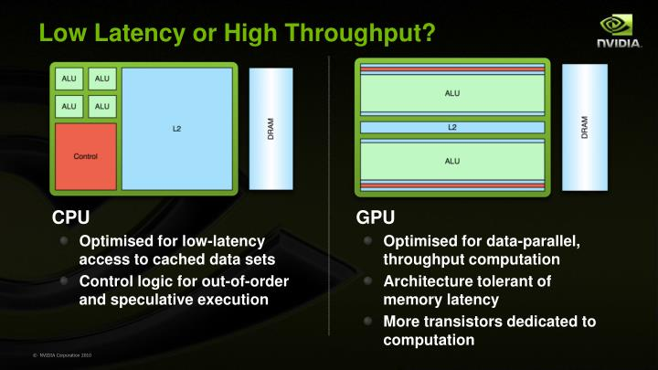 Low Latency or High Throughput?