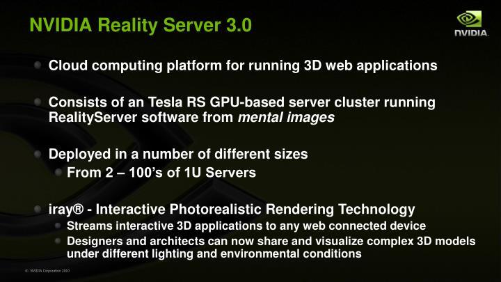 NVIDIA Reality Server 3.0