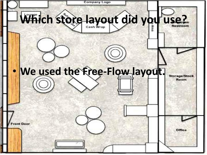 Which store layout did you use?