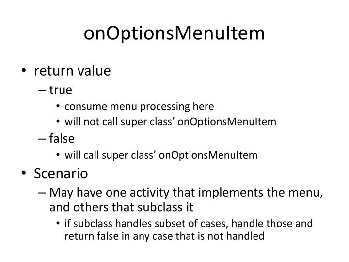 onOptionsMenuItem