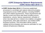 copc enterprise network requirements copc action item 2010 1 1