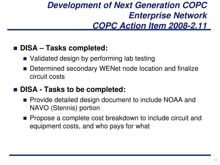 Development of Next Generation COPC Enterprise Network