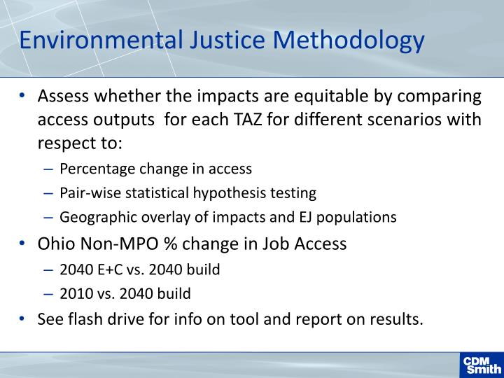 Environmental Justice Methodology
