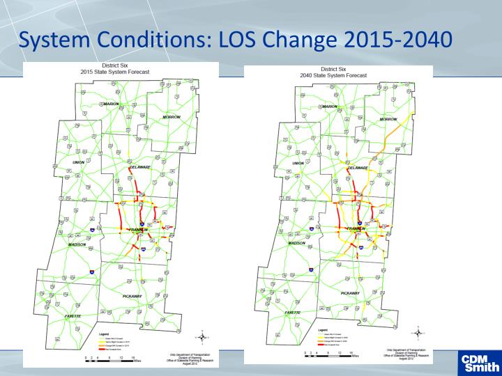 System Conditions: LOS Change 2015-2040