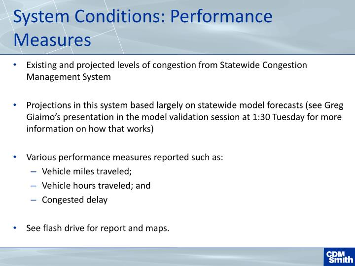 System Conditions: Performance Measures