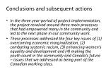 conclusions and subsequent actions
