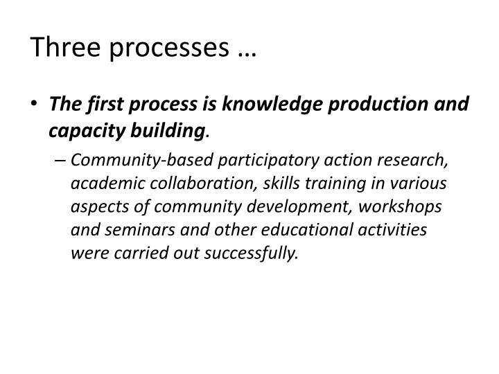 Three processes …