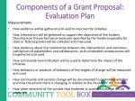 components of a grant proposal evaluation plan1