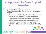 components of a grant proposal narrative