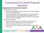 components of a grant proposal narrative7