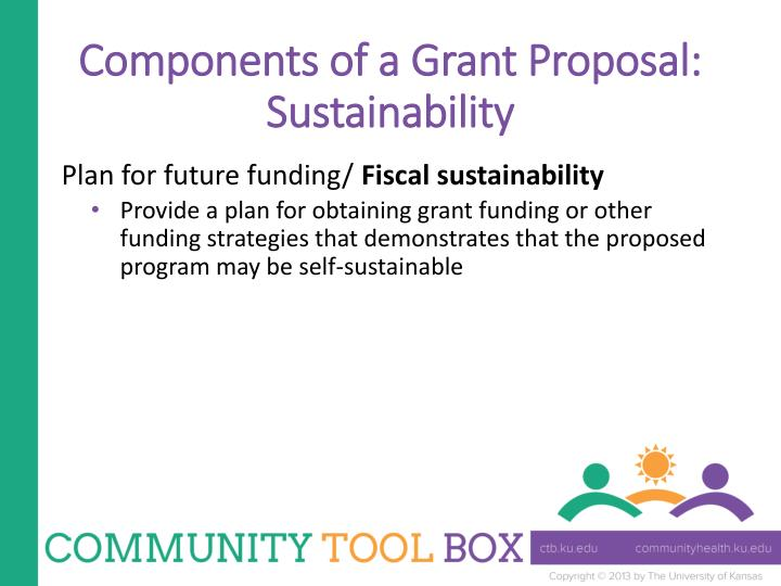 Components of a Grant Proposal: Sustainability