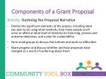 components of a grant proposal1