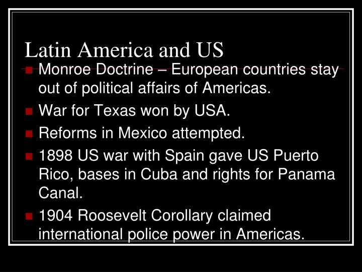 Latin America and US