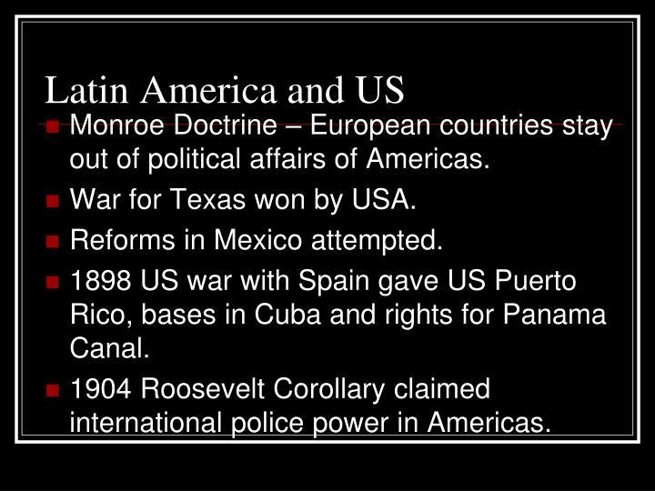 Latin America and US