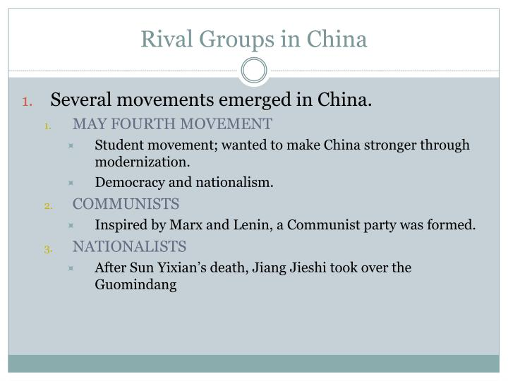 Rival Groups in China
