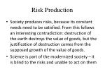 risk production